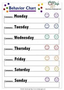 toddler behavior chart template behavior chart therapist ideas