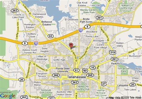 where is tallahassee florida on the map map of suburban extended stay tallahassee tallahassee