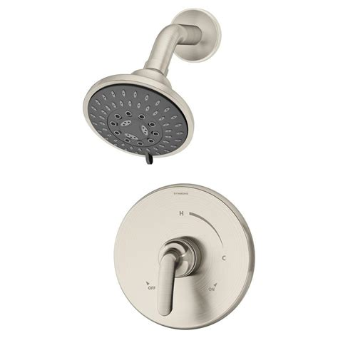 Symmons Shower by Symmons Elm 1 Handle 3 Spray Shower Faucet System In Satin Nickel 5501 Stn The Home Depot