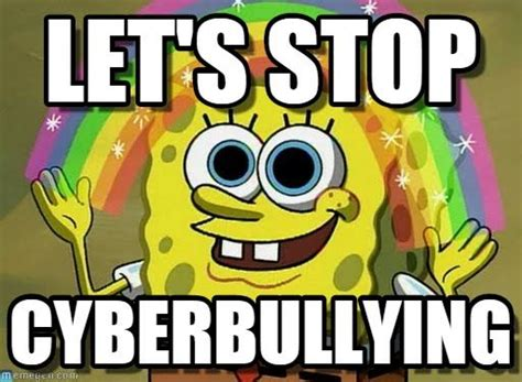 Anti Bullying Meme - anti bullying meme spongebob google search stand up