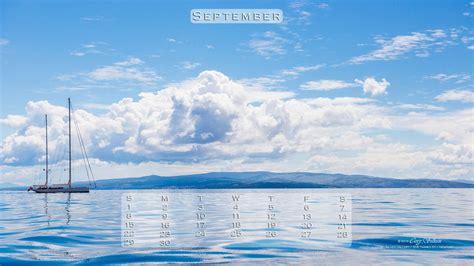 computer calendar background september