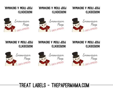 printable reindeer poop tags day 45 quot poop quot treat labels the paper mama