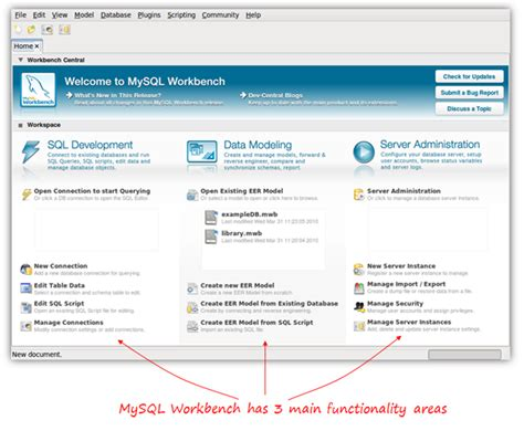 how to create an database free visual database creation with mysql workbench