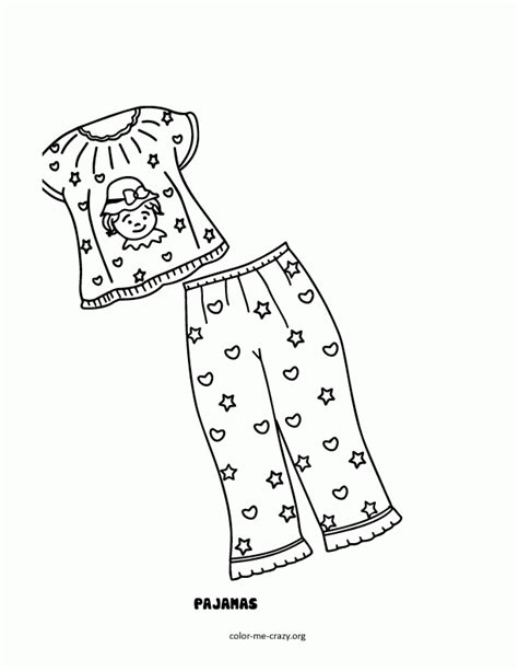 pajama template coloring pages in pajamas coloring home