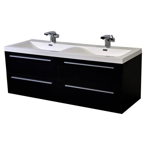 Modern Sink Bathroom Vanity by 57 Inch Modern Sink Vanity Set With Wavy Sinks