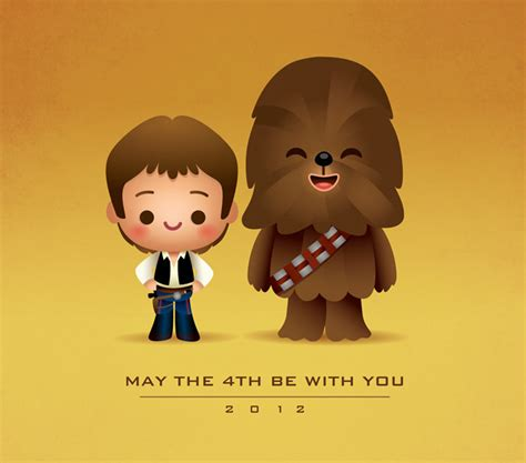 imagenes de star wars kawai kawaii han and chewie in honor of star wars day i give