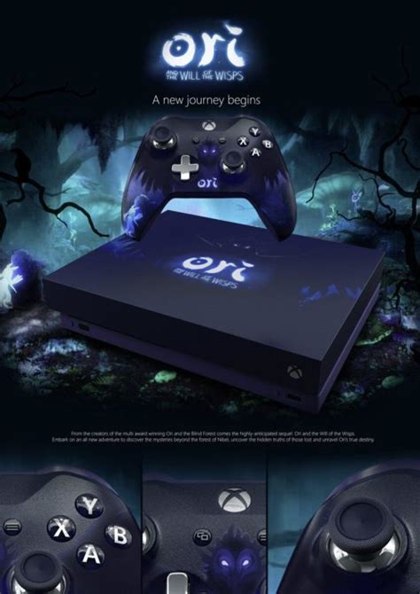 xbox one x fan noise custom xbox one x ori and the will of the wisps fan made