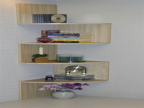 wall shelving ideas wooden and glass corner rack decorating color floating