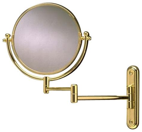swing arm magnifying mirror swing arm rotating mirror polished brass transitional