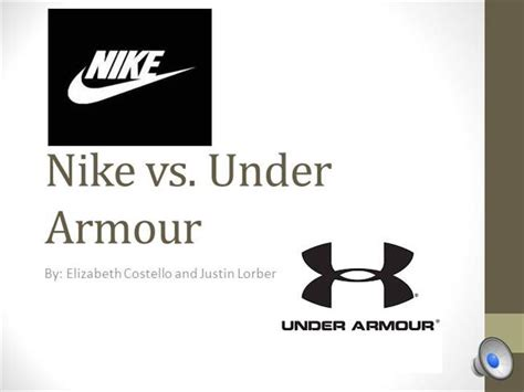 Nike Vs Under Armour Authorstream Nike Powerpoint Template