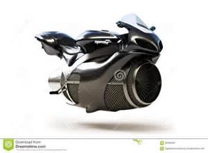 black white futuristic black futuristic turbine jet bike stock illustration