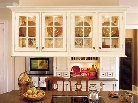 kitchen cabinets glass doors simple ways to choose the glass kitchen cabinet doors my