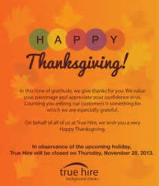 true hire wishes you a happy thanksgiving background checks for volunteers