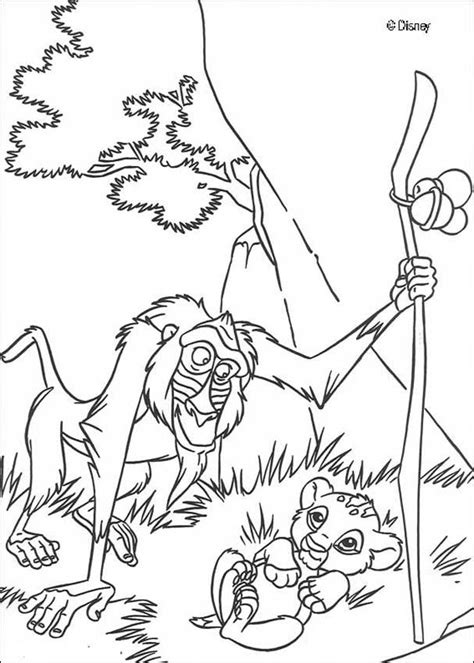 lion king rafiki coloring pages rafiki and simba coloring pages hellokids com