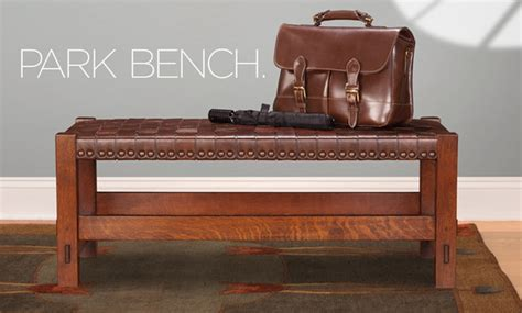 woven leather bench stickley 2015 collector edition gus woven leather bench