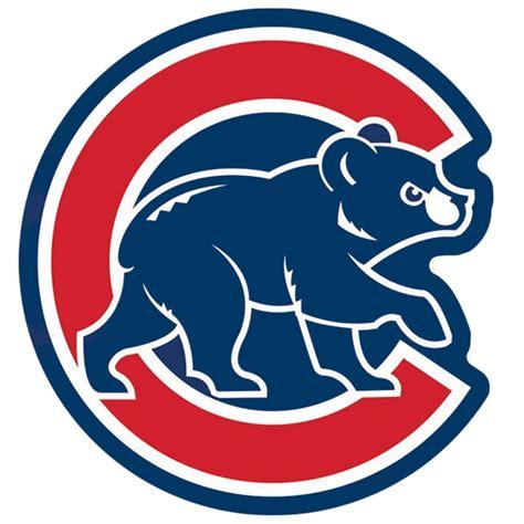chicago cubs chicago cubs mlb baseball alternate walking logo blue