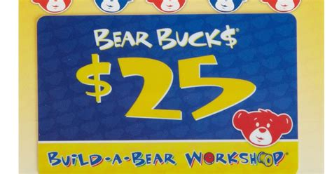 Build A Bear Gift Card - 25 build a bear gift card only 20 shipped amazon prime only hip2save
