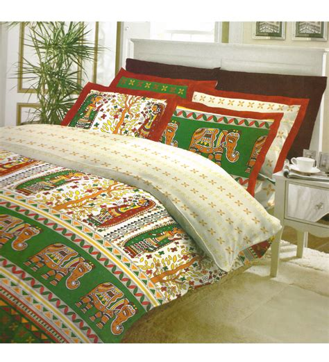 bombay dyeing bed sheets bombay dyeing elephant motif double bedsheet set by bombay