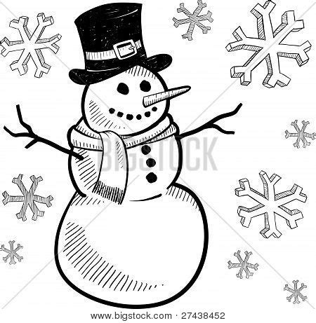 Bolpoin Drawing Snowman 0 1 snowman drawing sketch coloring page