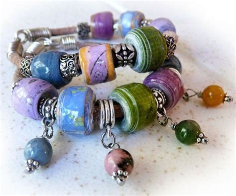 How To Make Paper Bead Bracelets - 17 best images about paper on watercolor