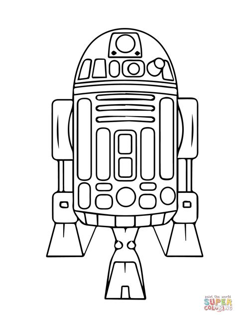 star wars droid coloring page astromech droid r2 d2 coloring page free printable