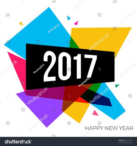 modern new year vector design happy new year 2017 text graphic stock vector 453914287