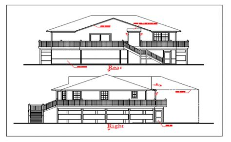 elevation design showing ground floor first floor and ground floor and first floor elevation design drawing of house