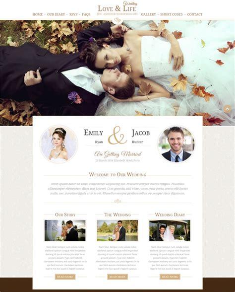 50 top wedding wordpress themes templates design