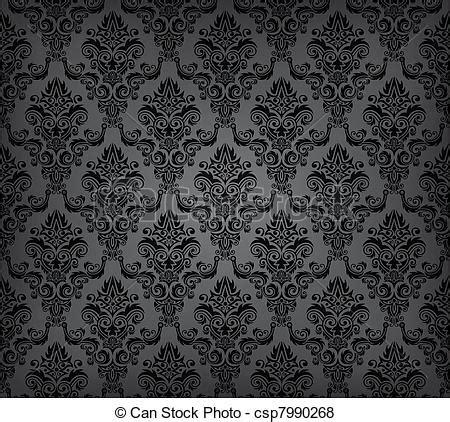 Muster Tapete Vektor Schwarz Seamless Tapete Muster Vektor Abbildung Csp7990268 Suchen