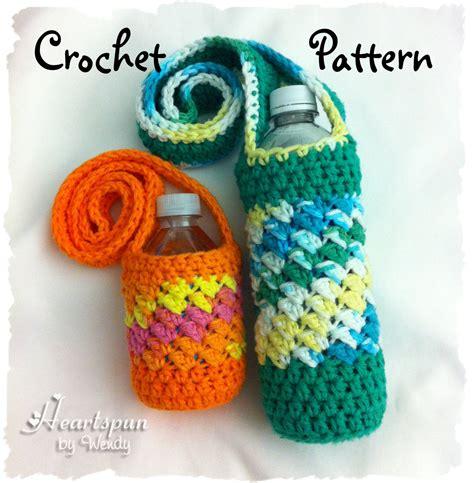 crochet pattern bottle holder crochet pattern to make a sideways shell water bottle holder