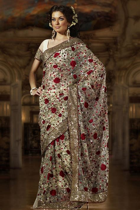 draping saree embroidered sequins saree saree draping style