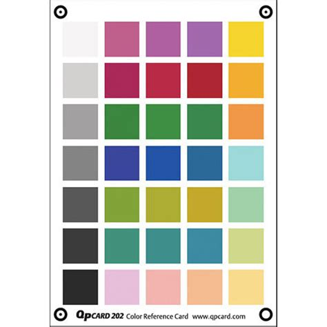 color card qp card qp color reference card 202 gqp202 b h photo