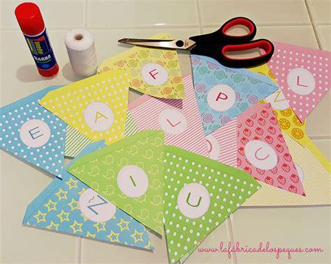 como imprimir banderines con nombres banderines infantiles para fiestas la f 225 brica de los peques