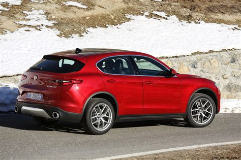 2018 alfa romeo stelvio 70 dynamic pics on namesake road