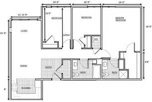 3 Bedroom Floor Plan Gile Hill Affordable Rentals 3 Bedroom Floorplan