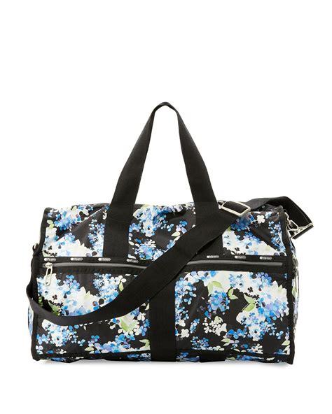 Balenciaga Floral Weekender by Lesportsac Floral Print Large Weekender Bag In Black Lyst