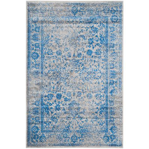 10 Ft Gray Blue Rugs by Safavieh Farrah Gray Blue 10 Ft X 14 Ft Area Rug