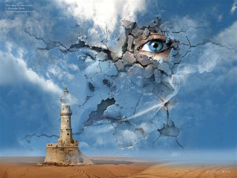 libro surrealism world of art the sky is the limit or false illusions and imagination duplicity surreal art print poster