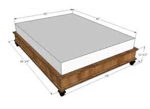 King Size Bed Plans Dimensions Diy King Size Bed Frame Plans Platform Woodworking