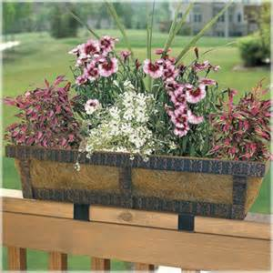 embossed adjustable deck railing planter traditional