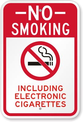 no smoking sign e cigarettes no smoking electronic cigarettes sign