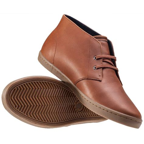 fred perry mens boots fred perry byron mid mens chukka boots in
