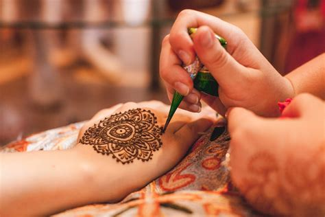 henna tattoo color ink colors