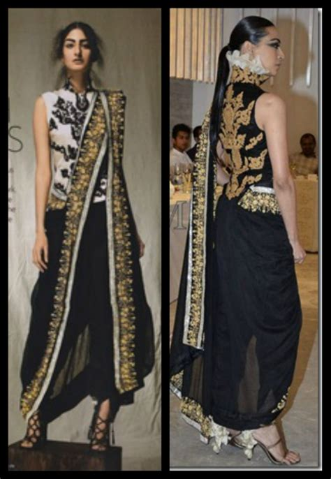 draping styles how to wear designer saree dhoti saree pant style saree