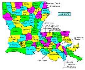 Louisiana County Map by Louisiana County Map Area County Map Regional City