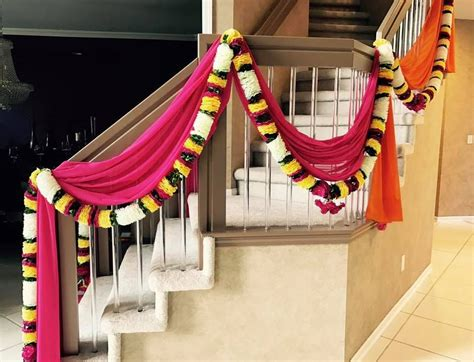 home decor   indian wedding home drapes  flowers