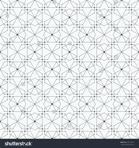 recurring pattern en francais pattern hexagons nodes repeating modern stylish stock