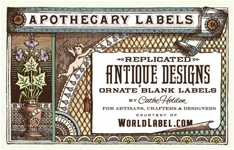 ornate apothecary blank labels by cathe holden