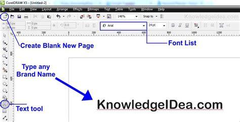 corel draw x5 menu bar how to make a watermark in coreldraw knowledgeidea