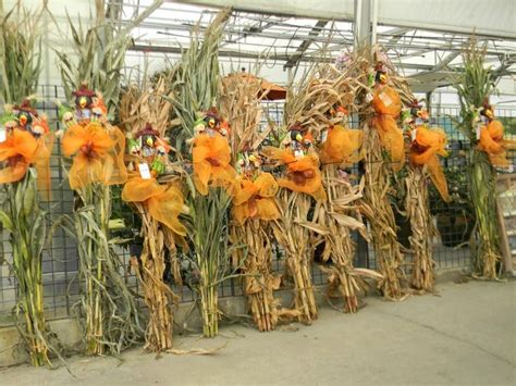 fall decorations with corn stalks pin by brenda on pretty pumpkin time a season of thanks
